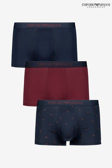 Armani Burgundy/Navy Boxers Three Pack