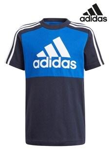 adidas Navy Block T-Shirt