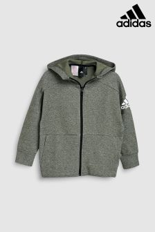adidas Grey ID Stadium Full Zip Hoody