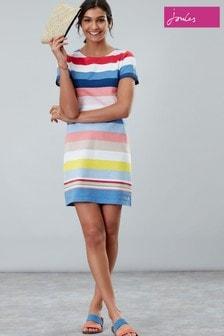 שמלת ג'רזי עם שרוול קצר של Joules דגם Riviera בכחול