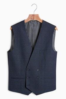 Двубортный пиджак от костюма в клетку