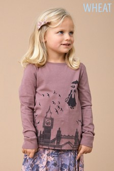 Wheat Girls Mary Poppins Long Sleeve Tee