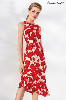 Phase Eight Poppy Dorothy Floral Frill Hem Dress