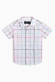 Check Short Sleeve Shirt (3mths-6yrs)