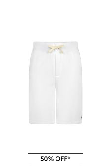 Ralph Lauren Kids Boys White Cotton Shorts