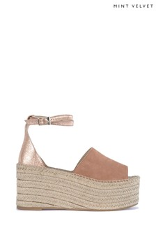 Mint Velvet Jamie Rose Gold Flatform Wedge