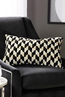 Moon Cut Velvet Cushion