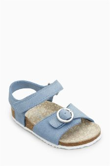 Buckle Corkbed Sandals (Younger)