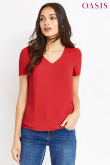 Oasis Red Petal Sleeve Tee