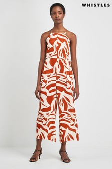 Whistles Graphic Zebra Strappy Jumpsuit