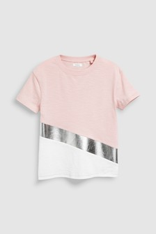 Colourblock Short Sleeve T-Shirt (3-16yrs)