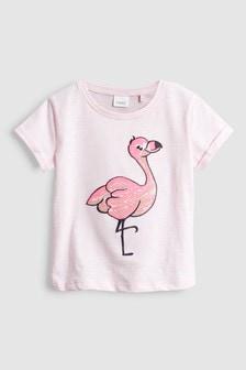 Sequin Flamingo T-Shirt (3mths-6yrs)