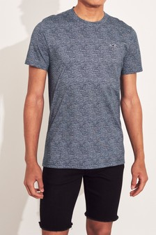Hollister Navy Texture T-Shirt