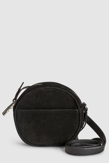 Leather Mini Circle Bag