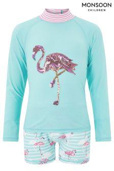 Monsoon Blue Flamingo Sunsafe Suit