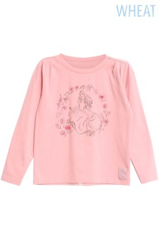 Wheat Girls Sleeping Beauty Long Sleeve Tee
