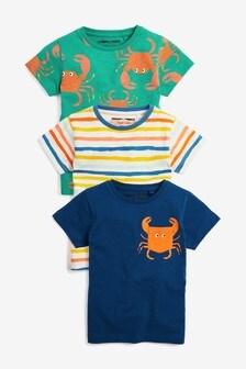 Crab T-Shirts Three Pack (3mths-7yrs)