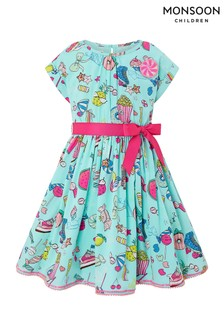 Monsoon Aqua Marlin Sweets Dress