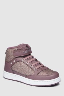 Lelli Kelly Pink Sparkle High Top Sneaker