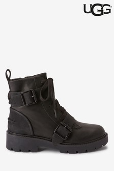 UGG® Noe Black Leather Biker Boots