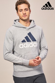 adidas Medium Grey Heather Linear Hoody