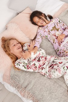 2 Pack Floral Snuggle Pyjamas (3-16yrs)