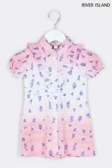River Island Pink Medium Little Shirt Dress