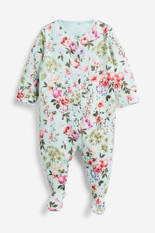 Photographic Floral Sleepsuit (0mths-2yrs)