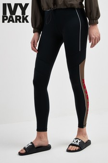 Ivy Park Black Flocked Active Legging