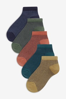 Stripe Trainer Socks Five Pack (Older)