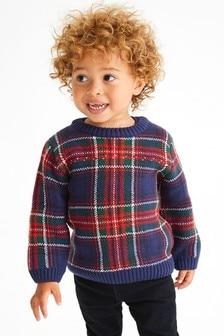 Károvaný pulóver (3 mes. – 7 rok.)