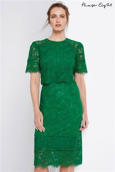 Phase Eight Green Alisha Double Layer Lace Dress