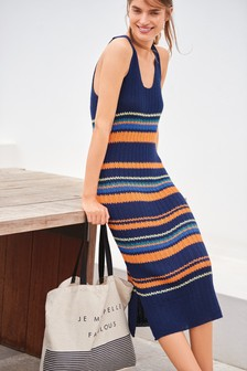 Stitch Tie Back Dress
