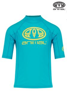 Animal Blue Hiltern Rash Vest