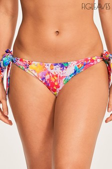 Figleaves White Sophia Wide Tie Side Brief