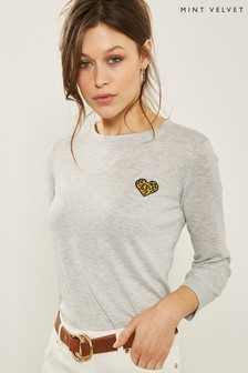 Mint Velvet Grey Animal Motif Knit Jumper
