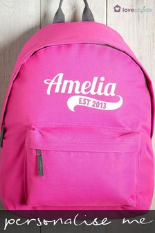 Personalised Pink Backpack by Loveabode