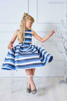 Angel & Rocket Blue And White Stripe Dress