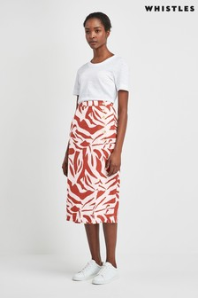 Whistles Graphic Zebra Linen Pencil Skirt