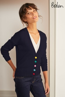 Boden Blue Allendale Button Cardigan