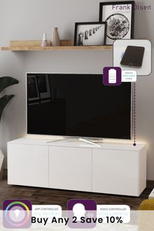Frank Olsen Smart LED White Large TV Cabinet