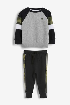 Colourblock Crew And Joggers Set (3mths-7yrs)