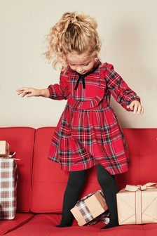 Tartan Dress With Tights (3mths-6yrs)