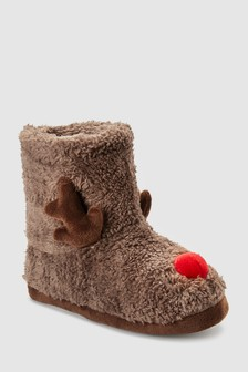 Reindeer Slipper Boots (Younger)