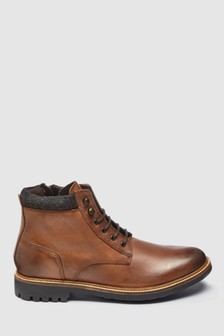 Leather Cleat Hiker Boot