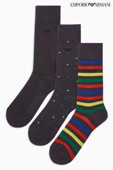 Emporio Armani Sock Three Pack Gift Set