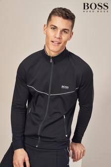 BOSS Black Zip Through Track Top