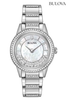 Bulova Ladies Crystal Case Watch