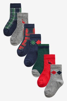 7 Pack Cotton Rich Smart Socks (Younger)