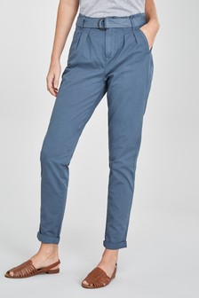 Belted Taper Trousers